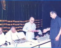 2_Receiving the book from Radha Krishna Sarma